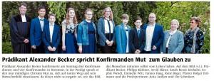Zeitung Konfirmation Horstmar 2019